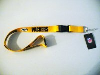 Green Bay Packers Lanyard With Neck Safety Latch
