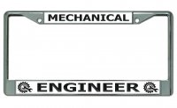 Mechanical Engineer Chrome License Plate Frame