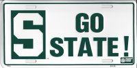 Michigan State Go State! License Plate