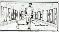 James Dean Broken Dreams License Plate