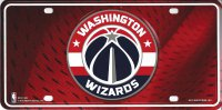 Washington Wizards Metal License Plate