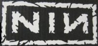 "Nine Inch Nails White 4"" x 4"" Decal"