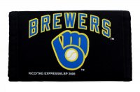Milwaukee Brewers Nylon Trifold Wallet