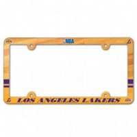 Los Angeles Lakers Full Color Plastic License Plate Frame
