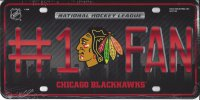 Chicago Blackhawks #1 Fan Metal License Plate