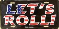 Let's Roll Patriotic License Plate