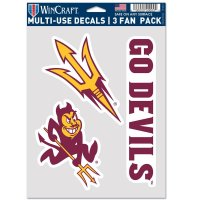 Arizona State Sun Devils 3 Fan Pack Decals