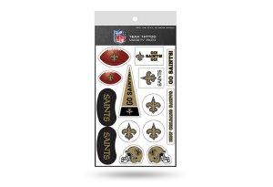 NEW Orleans Saints Variety Pack Tattoo Set