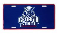 Georgia State University Panthers Metal License Plate