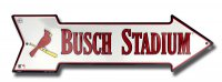 St. Louis Cardinals Busch Stadium Arrow Street Sign