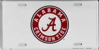Alabama Crimson Tide Metal License Plate