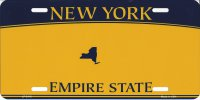 New York Empire State Metal License Plate