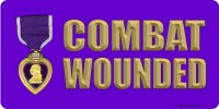 Combat Wounded Photo License Plate