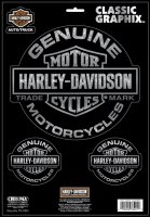 Harley-Davidson Genuine 3pc Decal Set