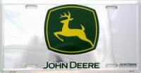 John Deere - Green and Chrome - License Plate