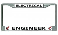 Electrical Engineer Chrome License Plate Frame