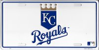 Kansas City Royals Centered white Plate
