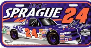 Jack Sprague #24 Craftsman Truck Plastic License Plate