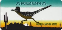 Arizona Roadrunner Photo License Plate