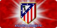Atletico Madrid Red Soccer Photo License Plate