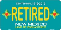 New Mexico Centennial Retired License Plate