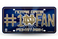 Notre Dame #1 Fan Glitter License Plate