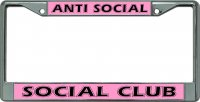Anti Social Social Club #2 Chrome License Plate Frame