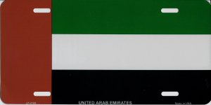United Arab Emirates Flag Metal License Plate
