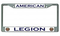 American Legion Chrome License Plate Frame