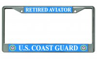 U.S. Coast Guard Retired Aviator Photo License Plate Frame