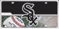 Chicago White Sox Metal License Plate