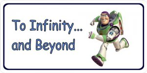 Buzz Lightyear Infinity And Beyond Photo License Plate