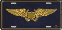 Naval Flight Officer Metal License Plate