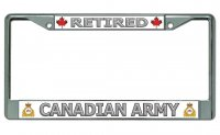 Retired Canadian Army Chrome License Plate Frame
