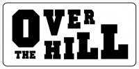 Over The Hill Photo License Plate