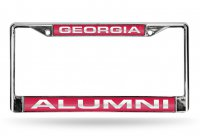 Georgia Bulldogs Alumni Laser Chrome License Plate Frame