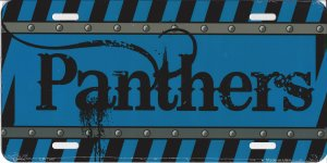 Carolina Panthers Construction License Plate