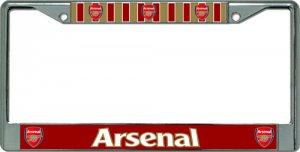 Arsenal Football Club Chrome License Plate Frame