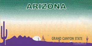 Arizona Blank Full Color Photo License Plate Lpo636 22 99