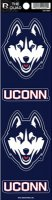 UCONN Huskies Quad Decal Set