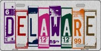 Delaware Cut Style Metal License Plate