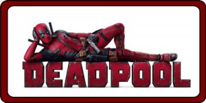 Deadpool Laying Down Photo License Plate
