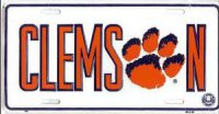 Clemson Paw License Plate