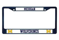 Michigan Wolverines Anodized Blue License Plate Frame