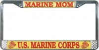 U.S. Marine Mom License Plate Frame