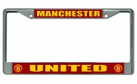 Manchester United Chrome License Plate Frame