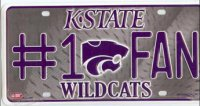 Kansas State Wildcats #1 Fan License Plate