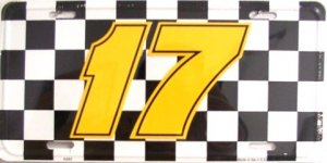 Nascar Racing #17 License Plate