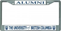 University Of British Columbia Alumni Chrome License Plate Frame