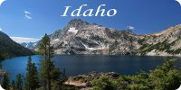 Idaho Mountain Lake Scene Photo License Plate